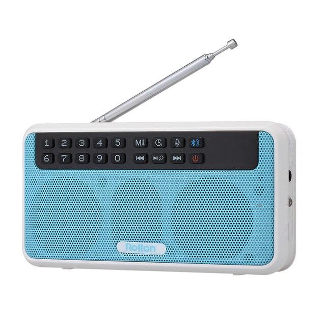 Rolton e500 fm rádio 6 w sem fio bluetooth alto falante portátil rádio digital fm estéreo de alta fidelidade tf music player com display led mic