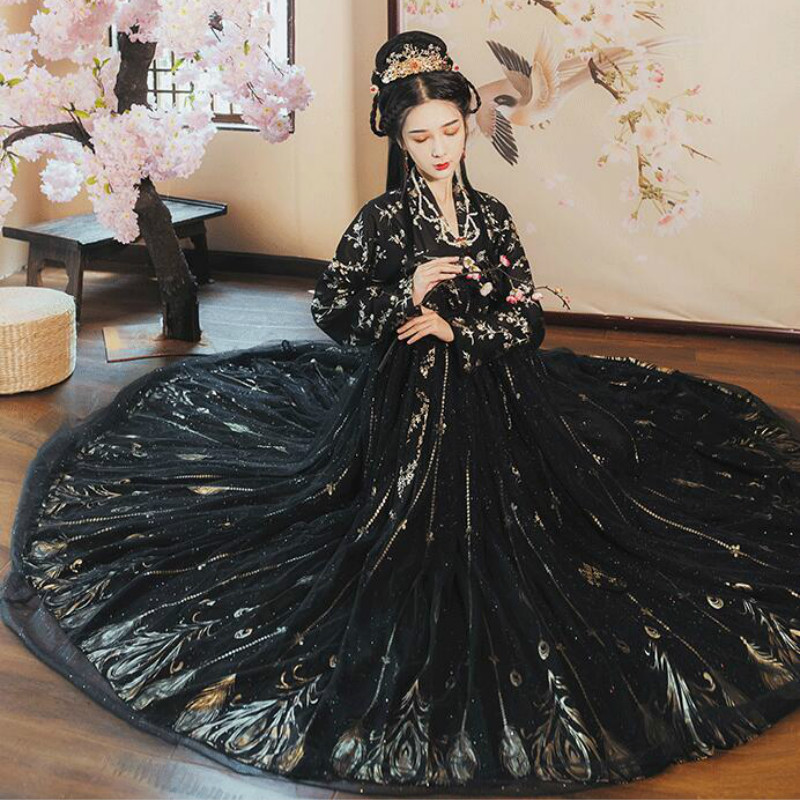 Hanfu Dress Folk Dance Costume Chinese Traditional National Fairy Costume Classical Tang Dynasty Princess Ancient Hanfu Outfits