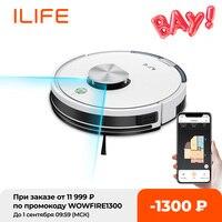 ILIFE-Robot aspirador L100, aspiradora con navegación láser LDS, fregona, Control por aplicación WIFI para teléfono móvil, succión de 2000Pa, aplicador utensilio doméstico