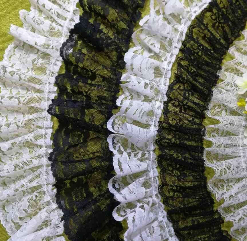 1M çoklu yeni stilleri tül dantel Trim dikiş kurdele beyaz siyah 3D dantel kumaş düğün elbisesi gipür danteller giysi el sanatları f02