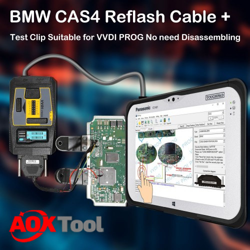 BMW CAS4 Data Reading Adapter for VVDI PROG No Need Disassembling