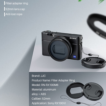 Металлический фильтр JJC 52 мм ND UV CPL, кольцо адаптер с крышкой для объектива, лента 3 м для Sony RX100 VI VII Vlog, аксессуары для объектива камеры
