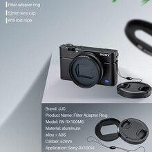 JJC 52MM ND UV CPL Metall Filter Adapter Ring Mit Objektiv Haube Kappe 3M Band für Sony RX100 VI VII Vlog Kamera Objektiv Zubehör