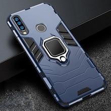 Onur için 20 s 20 s durumda zırh PC kapak Metal halka tutucu telefon kılıfı için Huawei onur 20 s MAR-LX1H kapak darbeye dayanıklı tampon kabuk
