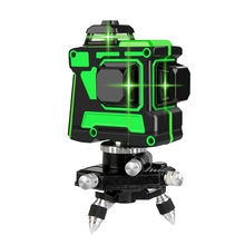 12 Lines 3D Green Laser Level Horizontal And Vertical Cross Lines 360 Auto Self-Leveling Green Laser Line With 2 Lithium Battery aculine ak437g green 2 lines green laser level green ray level