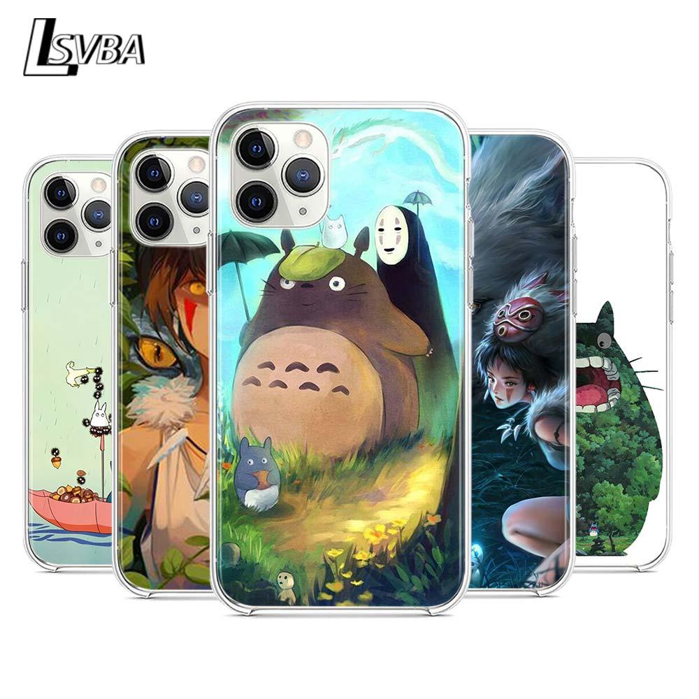Cute Studio Ghibli Silicone Cover For Apple iPhone 12 Mini 11 Pro XS Max XR X 8 7 6S 6 Plus 5S SE 2020 Phone Case