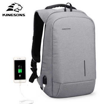 Kingsons Anti-theft Lock Backpack Phone Sucker Laptop Bags 13''15'' USB Charging Backpacks  School Bag Men's Shoulder Bags - DISCOUNT ITEM  40% OFF All Category