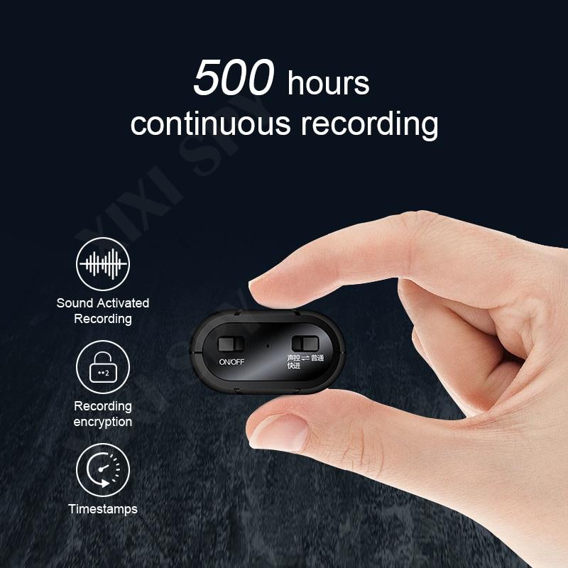 XIXI casus 500 saat ses kaydedici kulaklık kalem ses ses mini aktif dijital profesyonel mikro flash sürücü