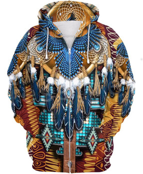 Tessffel Indian Native culture Harajuku Casual Colorful Tracksuit New Fashion 3DPrint Unisex Hoodie/Hoodies/Zipper Men Women s-3 1