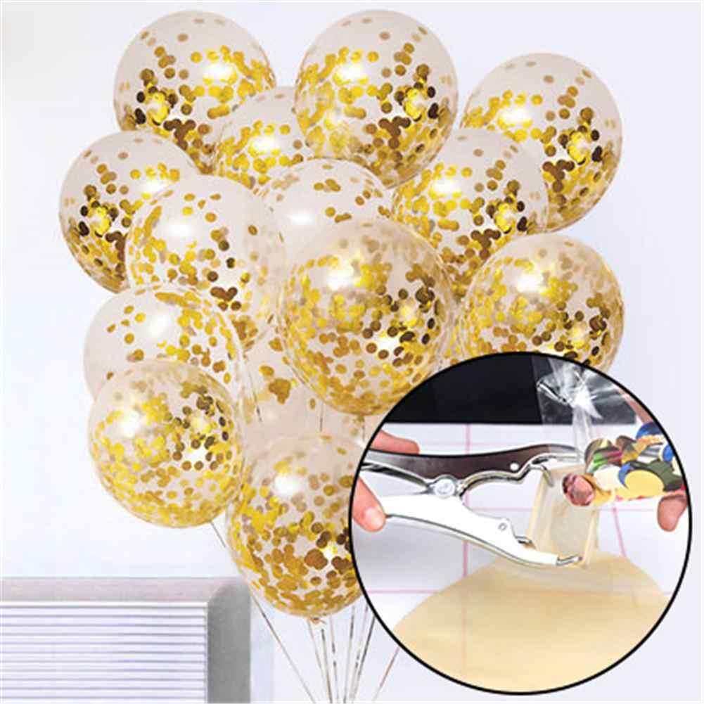 מתכת בלוני הרחבת פלייר מילוי בלון פה Expander DIY כלים עבור שקוף בובו בועות Ballons מילוי קונפטי