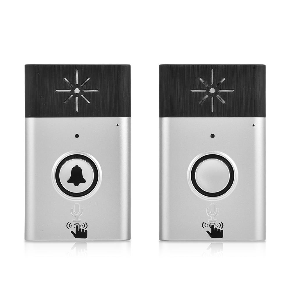 Dual Way Voice Intercom Doorbell Mini Wireless Doorbell 2.4GHz Intercom Doorbells With Mic And Speaker Interphone System