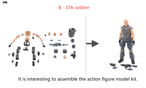 Image 2 - JOYTOY 1/18 action figure Unassembled, not colored model kit soldier figures DIY Collection toys Free shipping