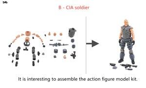 Image 2 - JOYTOY 1/18 figura de acción sin montar, no coloreado modelo kit soldado figuras DIY colección juguetes envío gratis