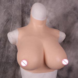 Silicone Breast Forms Realistic Fake Boobs Tits Enhancer Crossdresser Drag Queen Shemale Transgender Cotton Filler B C D E G Cup(China)