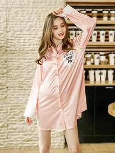 Sleepwear Sexy Women Summer S089 Nightdress Silks Spinning-Silk New-Product Home-Service