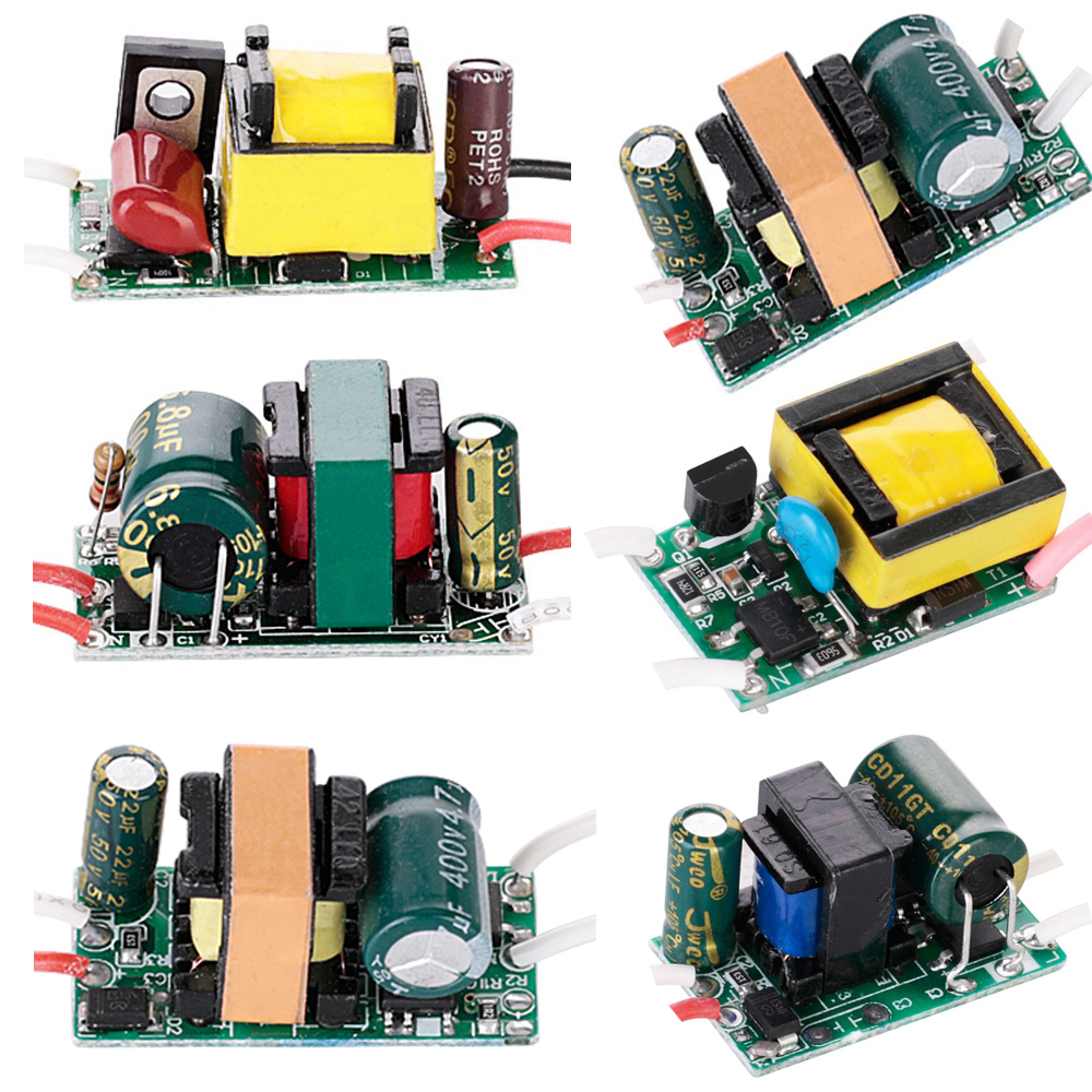 AC 85-265V LED Driver Constant Current 200mA 300mA Power Supply For 3W 4W 5W 7W Light Lamp Bulb Transformers Output 3-12V 12-26V