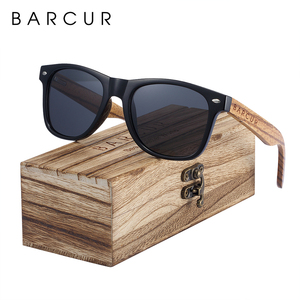 Sunglasses Polarized Zebra Wood Sunglasses Hand Made Vintage Wooden Frame Male Driving Sun Glasses Shades Gafas With Box(China)