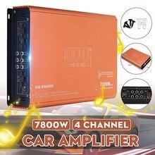 12V 7800W 4 Channel Car Amplifier Speaker Vehicle Amplifier Power Stereo Amp Auto Audio Power Amplifier Car Audio Amplifier