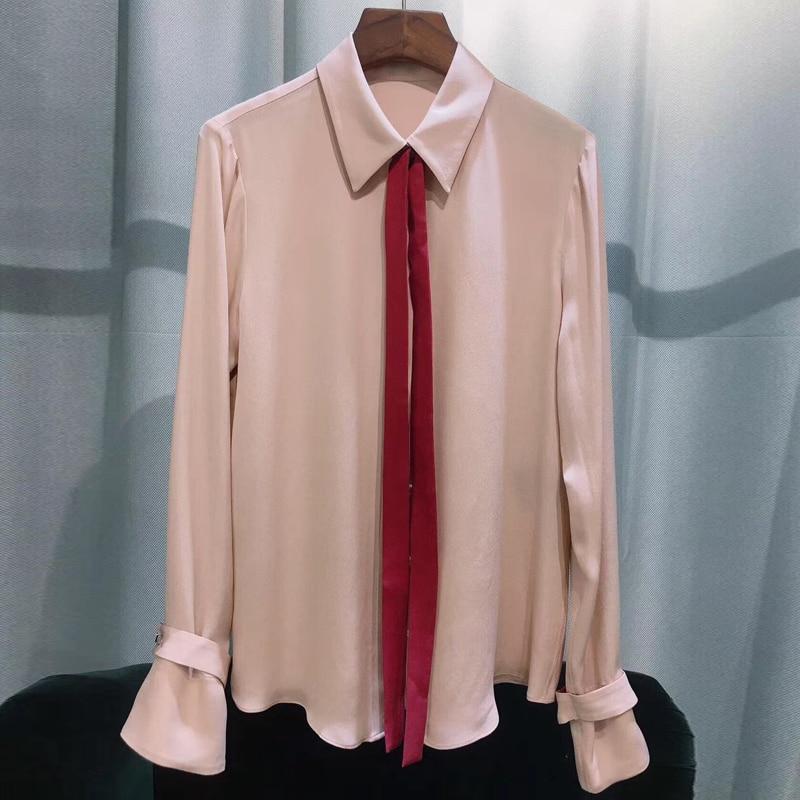 Женские блузки 2019 мода длинный рукав отложной воротник офисная рубашка свободна блузка рубашка повседневные топы плюс размер Blusas Femininas