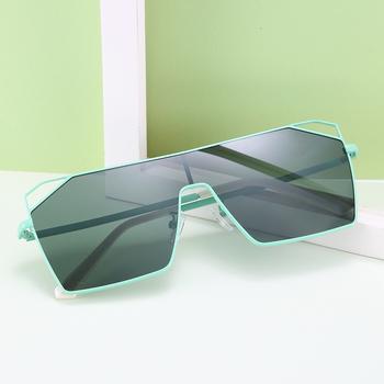 Luksusowe marki kwadratowe męskie okulary soczewki jednoogniskowe ponadgabarytowych okulary dla mężczyzn 2020 100 UV400 metalowa rama óculos De Sol G18121 tanie i dobre opinie Beyond star CN (pochodzenie) SQUARE Adult STOP 52MM Z poliwęglanu 64MM
