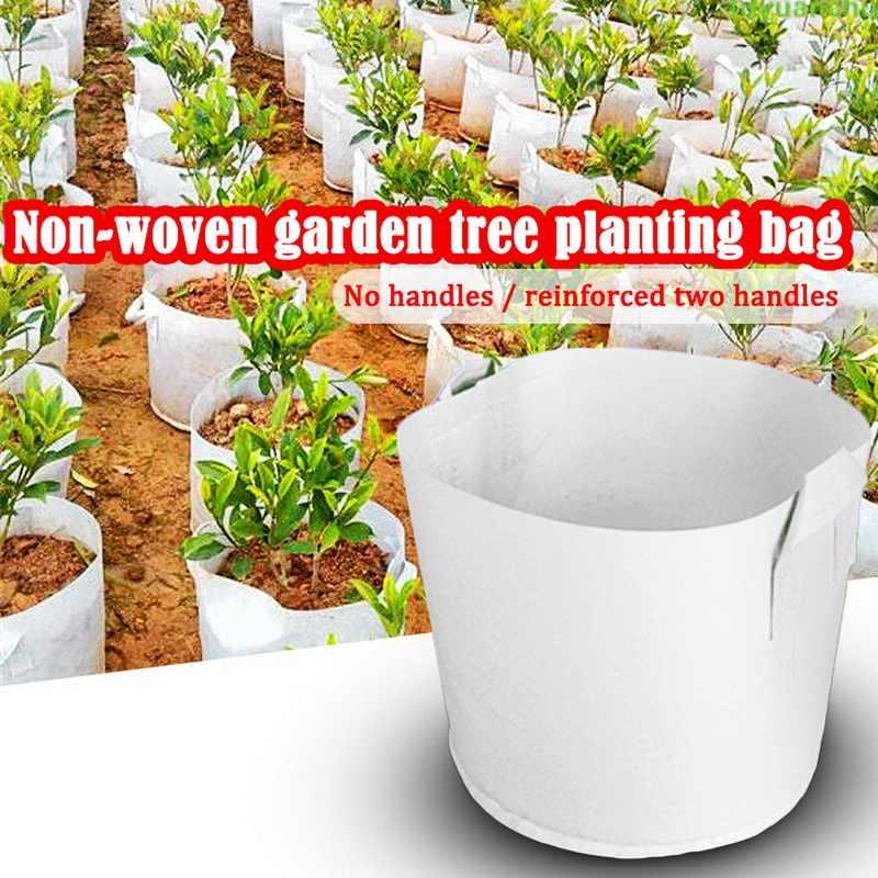 10 stücke Runde Anlage Wachsen Tasche Stoff Topf Anlage Beutel Wurzel Container Anbau Pflanzen Wachsen Tasche Garten Liefert