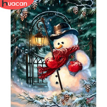 HUACAN Painting By Numbers Snowman Pictures Paint On Canvas Hand Painted Drawing Oil DIY Winter Arts Home Decor Christmas