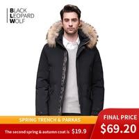 Blackleopardwolf 2019 winter jacket men coat men parka with luxury fur Detachable raccoon fur thick Windproof outwear BL 989M