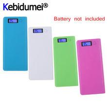 Kebidumei venda quente 5v dupla usb 8*18650 power bank caixa de bateria carregador do telefone móvel caso escudo diy para iphone 12 plus para xiaomi
