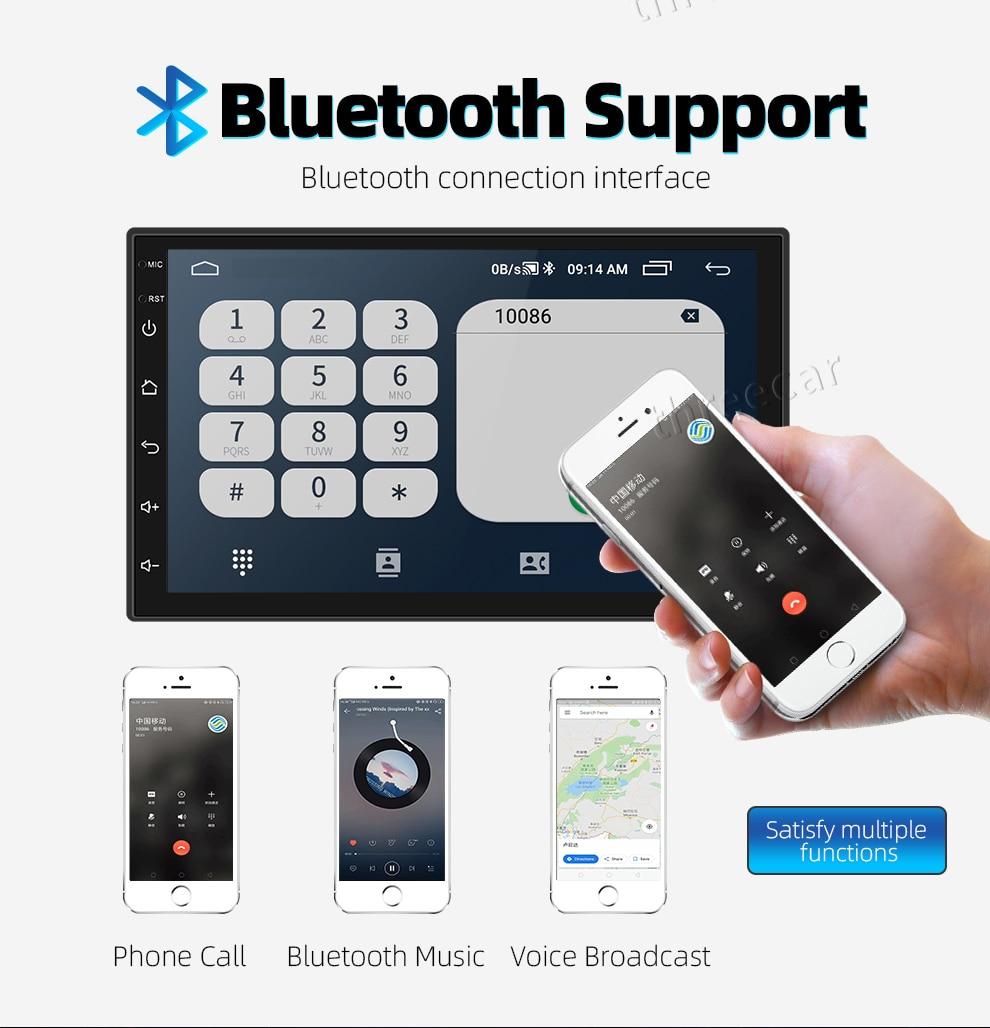 7 ''Universal GPS Navigation Bluetooth 2 Din Auto Radio Android 8.1 Wifi Auto Audio Stereo FM Split Screen Auto-player autoradio