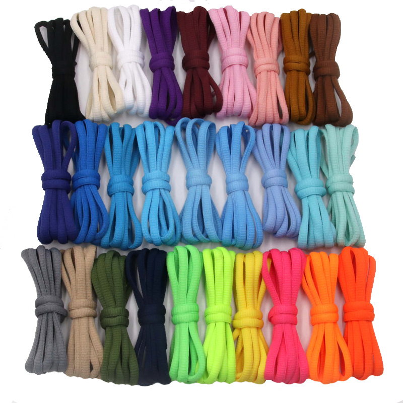 Weiou Cool 6mm Strong Oval Shoelaces Rope For Sports Athletic Shoes Ideal Laces For Brand Boots Promotional Shoestring Bootlaces