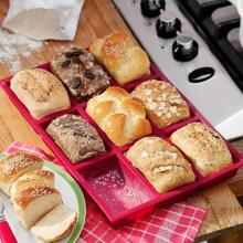 9 Holes Silicone Bread Baking Pan Mould Tray Chocolate Cake Dough Pastry Shaper Bakery DIY Gadgets Helper HOT