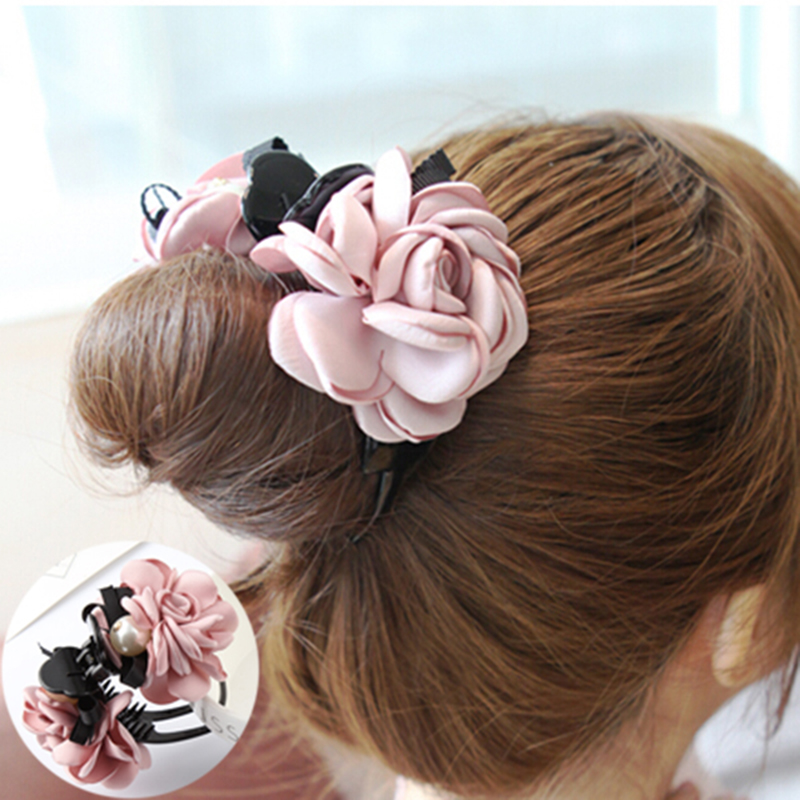 1X Baby Hair Clip Cute Flower Headwear Kids Candy Color BB hairpins VGCA