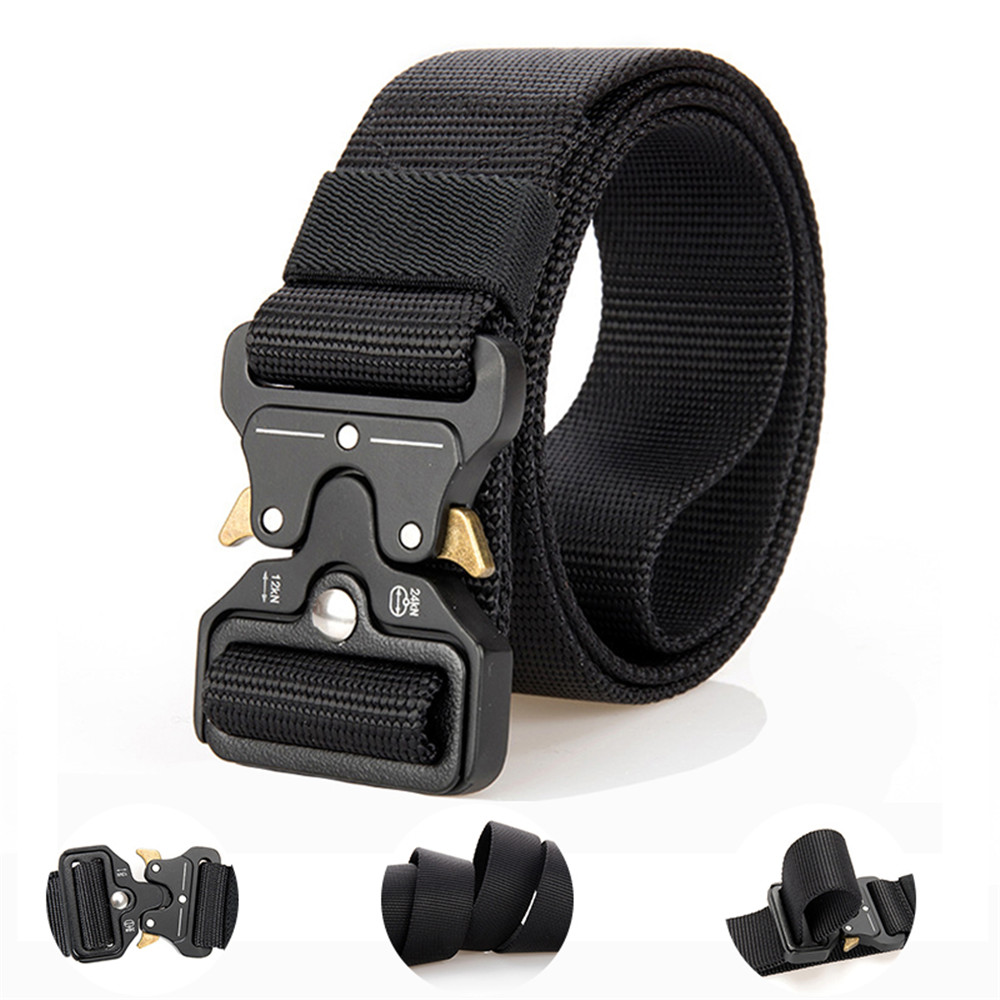 Cobra Adjustable Tactical Belt Nylon Special Forces Pants With Multi-function Outdoor Male Belt Sports Training Belt Hunting Acc