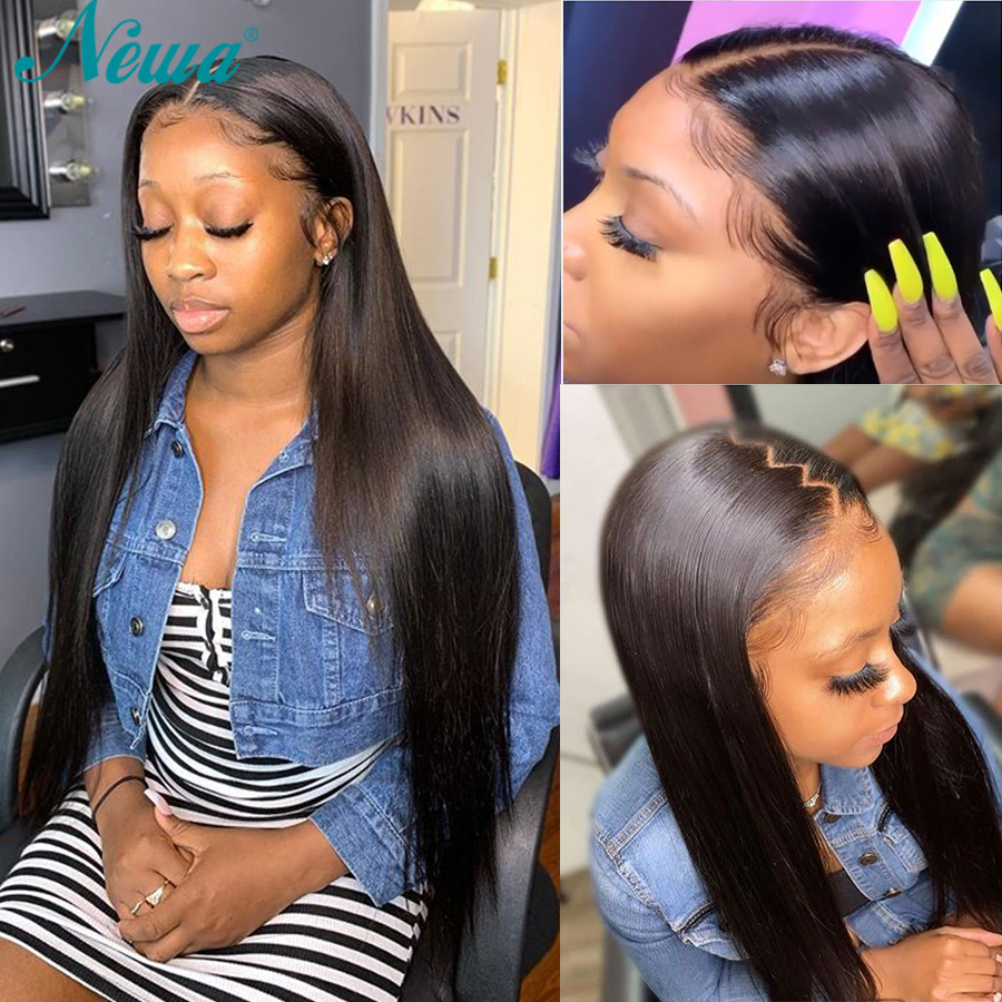Straight Full Lace Human Hair Wigs With Baby Hair Brazilian Full Lace Wigs Pre Plucked Newa Remy Hair Lace Wigs For Black Women