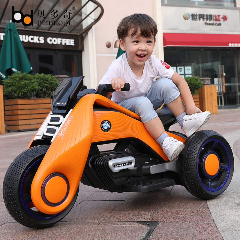 Children S Electric Motorcycle Tricycle Kids Toys Men And Women Baby Battery Double Drive Stroller Large Seated