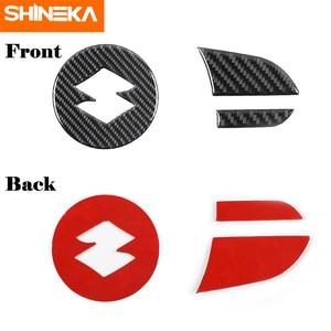 Image 4 - SHINEKA adesivi in fibra di carbonio per Suzuki Jimny 2019 coprivolante per pulsante centrale volante per Suzuki Jimny 2019 2020