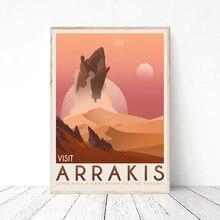 Arrakis – affiche de Dune rétro voyage, toile, peinture murale, photos d'art, Science-Fiction classique, idée cadeau pour salon