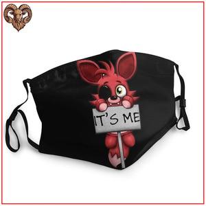 FNAF маска Foxy it me для ухода за кожей, мужская маска для защиты от зародышей, моющаяся, многоразовая, дышащая, регулируемая, хлопковая, спортивна...