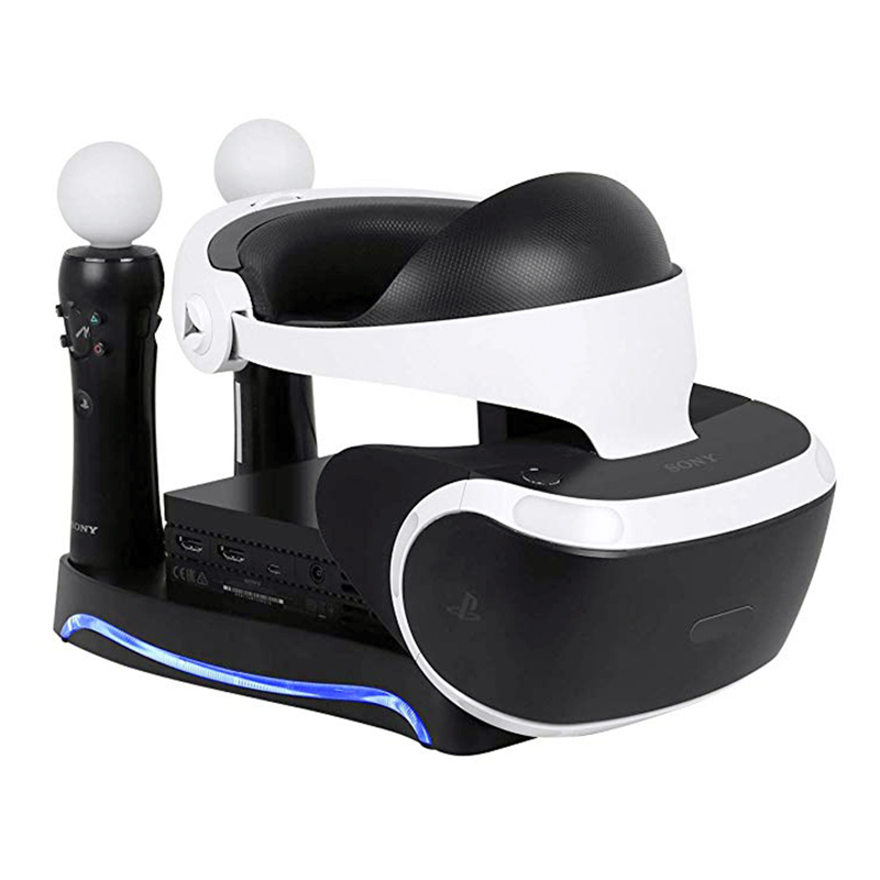 4 in 1 PSVR Charging Storage Stand For PS4 PS Move VR Headsets Bracket For PS VR Move Showcase CUH-ZVR2 2th Games Accessories image
