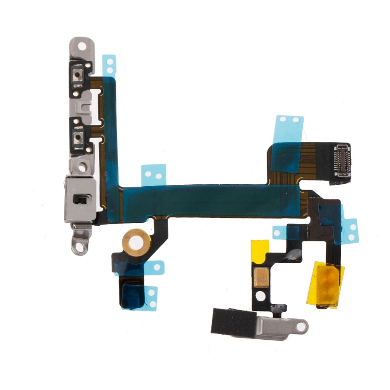 Power Switch On Off Mute Volume Button <font><b>Connector</b></font> Ribbon Flex Cable For <font><b>iPhone</b></font> <font><b>5S</b></font> LX9A image