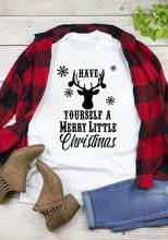 Camiseta de natal bonito dos cervos da camisa gráfica do feriado do feriado da camisa das camisetas da festa de natal