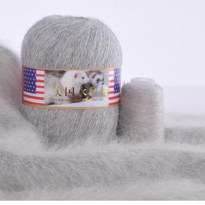 70g/set High Quality Cashmere Long Soft Mink Yarn Thread Anti-pilling Mink Velvet for Hand Knitting Crochet Yarns Warm Cardigan(China)