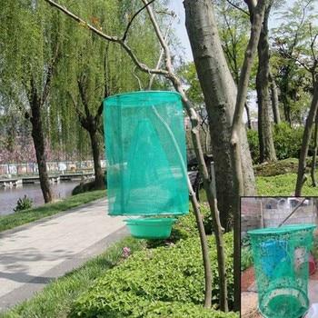 1/2/4/10 juegos plegable verde trampa para moscas campo patio trampa para moscas...