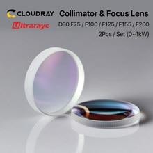 Оптоволоконный лазер-коллиматор и фокусные линзы D30 F75/F100/F125/F150/F200 2 шт./компл. для лазерной головки Raytools WSX Bodor BT240S и т. Д.