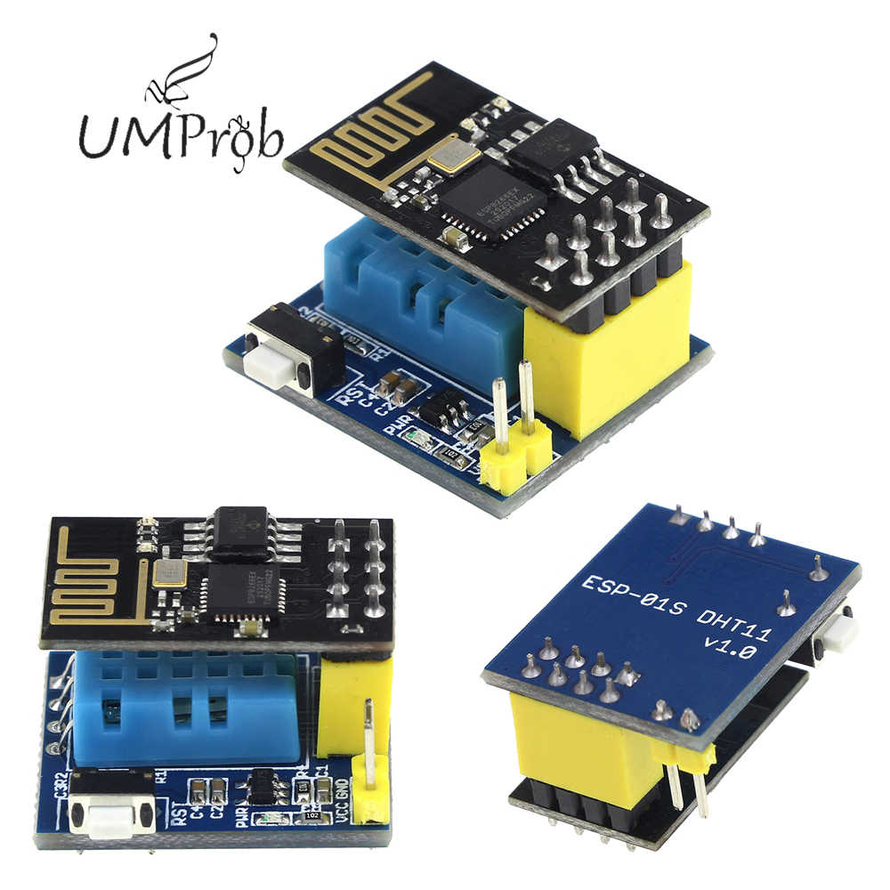 ESP8266 Wifi NodeMCU חכם בית IOT DIY ערכת ESP8266 ESP-01 ESP-01S DHT11 טמפרטורת לחות חיישן מודול