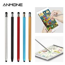 Bunte Runde Dual Tipps Kapazitiven Touchscreen Stift Dual Köpfe Enden Metall Stylus Stift für Handy Tablet Zeichnung Stift