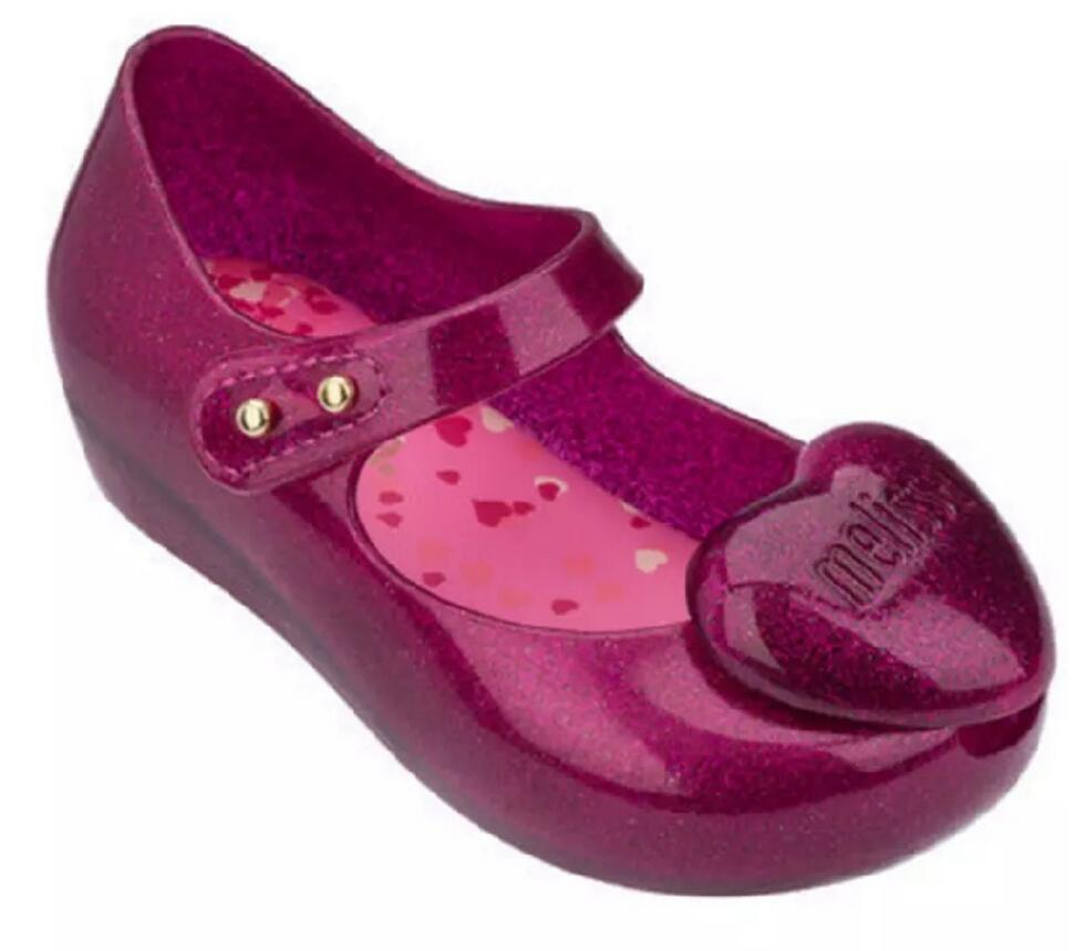 Mini Melissa Heart Girl Jelly Sandals Summer Sandals Children Sandals Beach Shoes Toddler Shoes For Girls Kids