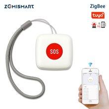 Zemismart – interrupteur dalarme durgence étanche, bouton SOS, télécommande, fonctionne avec Tuya Zigbee hub 2MQTT deCONZ