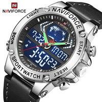 NAVIFORCE-relojes deportivos de lujo para hombre, pulsera de cuarzo con cronógrafo Digital, alarma, resistente al agua, militar, Masculino