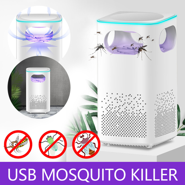 Led Mosquito Killer Lamp UV Night Light Photocatalyst USB Insect Killer Bug Zapper Mosquito Trap Mute Lantern Repellent Lamp